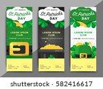 st. or saint patrick's day... | Shutterstock .eps vector #582416617