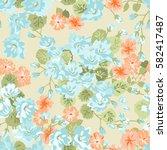 simple gentle pattern in flower ... | Shutterstock .eps vector #582417487