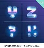 vector 80's style metallic... | Shutterstock .eps vector #582419263