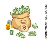 dollar paper business finance... | Shutterstock .eps vector #582420433