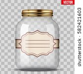 glass jar for canning and... | Shutterstock .eps vector #582421603