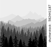 vector landscape. panorama of... | Shutterstock .eps vector #582441187