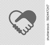 handshake symbol forming a...