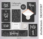 wedding cards collection. set... | Shutterstock .eps vector #582455587