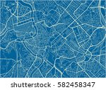 blue and white vector city map... | Shutterstock .eps vector #582458347