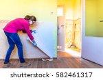 home renovation  room wall...   Shutterstock . vector #582461317