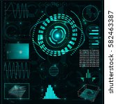 elements for hud interface | Shutterstock . vector #582463387