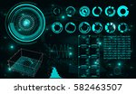 elements for hud interface | Shutterstock . vector #582463507
