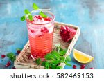 infused pomegranate water with... | Shutterstock . vector #582469153