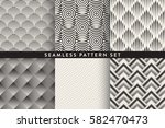 collection of seamless... | Shutterstock .eps vector #582470473