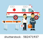 medicine ambulance concept in... | Shutterstock .eps vector #582471937