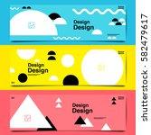 banner template design ... | Shutterstock .eps vector #582479617