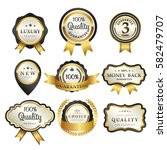 luxury premium golden badge... | Shutterstock .eps vector #582479707