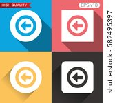colored icon or button of back... | Shutterstock .eps vector #582495397