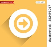 colored icon or button of right ... | Shutterstock .eps vector #582498067