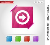 colored icon or button of right ... | Shutterstock .eps vector #582498367