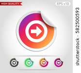 colored icon or button of right ... | Shutterstock .eps vector #582500593