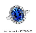 Beautiful Ring With Blue Gem ...