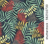 tropical background with palm... | Shutterstock .eps vector #582510733