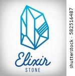 elixir stone logo. vector...