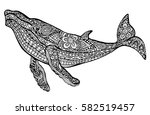 abstract whale. | Shutterstock .eps vector #582519457