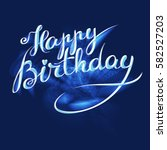 happy birthday   premium... | Shutterstock .eps vector #582527203
