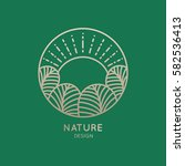 vector logo of nature elements... | Shutterstock .eps vector #582536413