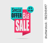 big sale banner. red discount... | Shutterstock .eps vector #582545497