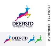 deer studio  colorful  animal ... | Shutterstock .eps vector #582546487