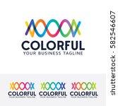 colorful  entertainment  studio ... | Shutterstock .eps vector #582546607