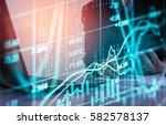 financial stock exchange in...   Shutterstock . vector #582578137