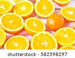 orange halves | Shutterstock . vector #582598297