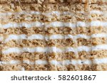 honey cake layers in place of... | Shutterstock . vector #582601867