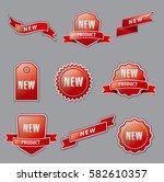 illustration of set new... | Shutterstock .eps vector #582610357