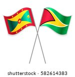 grenadian and guyanese crossed... | Shutterstock .eps vector #582614383