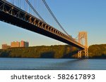 george washington bridge  new... | Shutterstock . vector #582617893
