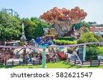 castelnuovo del garda  tree ... | Shutterstock . vector #582621547