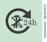 24 hours customer service ... | Shutterstock .eps vector #582632917