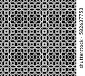 repeated white figures on black ...   Shutterstock .eps vector #582637753