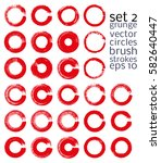 vector brush strokes circles of ... | Shutterstock .eps vector #582640447