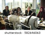 association alliance meeting... | Shutterstock . vector #582646063