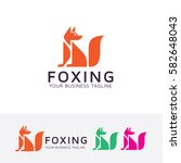 foxing  fox  animal  abstract ... | Shutterstock .eps vector #582648043