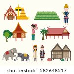 the northern thailand travel... | Shutterstock .eps vector #582648517