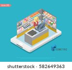 supermarket and store stuff ... | Shutterstock .eps vector #582649363