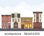 street landscape. city street... | Shutterstock .eps vector #582651553