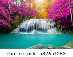 amazing waterfall in wonderful... | Shutterstock . vector #582654283