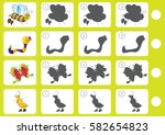 match shadow   worksheet for... | Shutterstock .eps vector #582654823