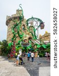 singapore  singapore   january... | Shutterstock . vector #582658027