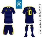 set of soccer kit or football... | Shutterstock .eps vector #582659617