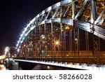 bolsheohtinskiy bridge by night ... | Shutterstock . vector #58266028